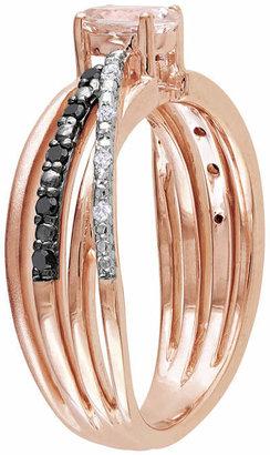 Black Diamond FINE JEWELRY Genuine Morganite, White & Color-Enhanced Crisscross Ring