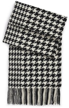 HUGO BOSS Wool Houndstooth 'SC478' Scarf by BOSS Black