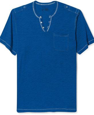 INC International Concepts Shirt, Nollie Split Neck Pocket T Shirt