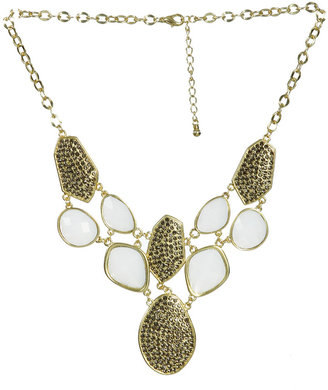 Arden B Pave & Cab Stone Statement Necklace