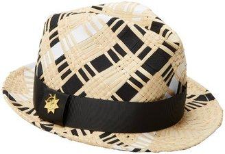 Jonathan Adler Women's Hand Ribbon Straw Fedora Hat