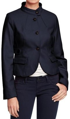 Old Navy Women's Cropped Wool-Blend Mock-Neck Coats
