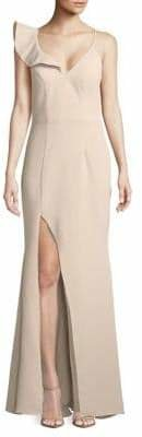 Xscape Evenings Ruffled V-Neck Gown