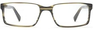 Warby Parker Reynold Striped Evergreen