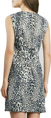 Phoebe by Kay Unger Animal-Print Sheath Dress