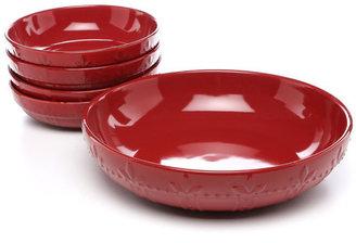 Signature Housewares Sorrento Ruby 5 Piece Pasta Bowls Set