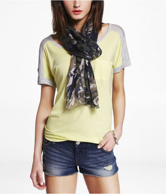 Express Floral Camouflage Oblong Scarf
