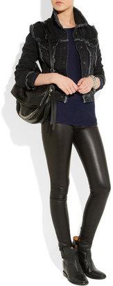 Isabel Marant Cluster leather concealed wedge biker boots