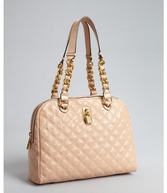 Marc Jacobs blush quilted grained leather chain strap 'Karlie' tote
