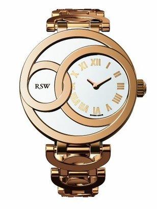 Rosegold RSW Women's 6025.PP.PP.2.00 Wonderland Round White Dial Rose-Gold PVD Stainless-Steel Bracelet Watch