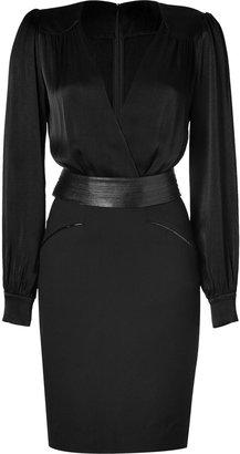 L'Agence LAgence Black Belted Combo Dress