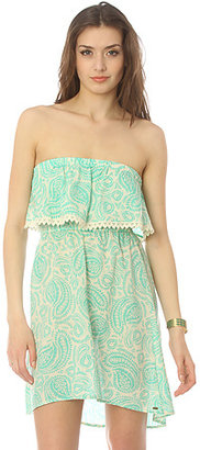 O'Neill The Karma Ruffle Crochet Tube Dress in Mermaid Green