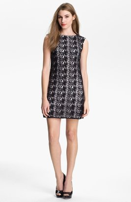 Vince Camuto Paisley Lace Shift Dress (Petite)