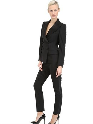 Dolce & Gabbana Wool Cloth Jacket With Satin Lapels