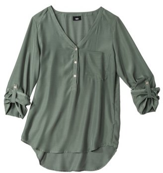 Mossimo Women's Long Sleeve Blouse - Assorted Colors