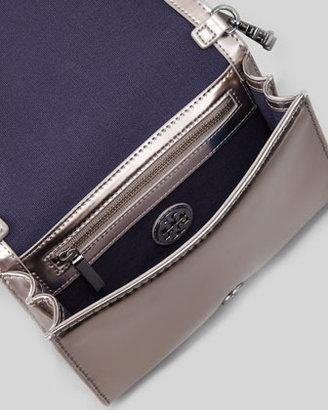 Tory Burch Perforated Logo Clutch Bag, Black Multi