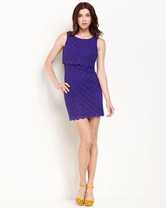 Laundry by Shelli Segal Popover Lace Sheath Dress, Violetta