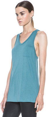 Alexander Wang Classic Viscose Tank with Pocket in Ocean