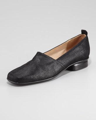Sesto Meucci Edwidge Gored Shiny Nubuck Leather Slip-On