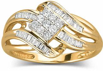 JCPenney FINE JEWELRY 1/3 CT. T.W. Diamond 10K Gold Ring