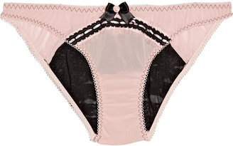 Agent Provocateur Darlene stretch lace-back briefs