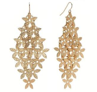 Candies Candie's ® textured floral kite earrings