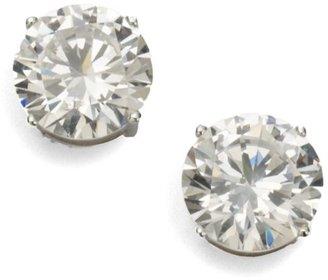 Adriana Orsini Brilliant Cut Crystal Sterling Silver Stud Earrings
