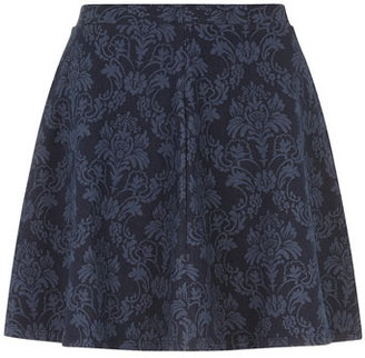 Dorothy Perkins Paisley denim look skater skirt