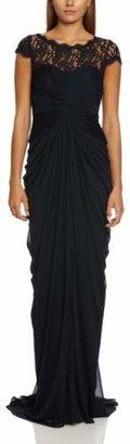 Adrianna Papell Lace-Bodice Drape Sleeveless Women's Dress
