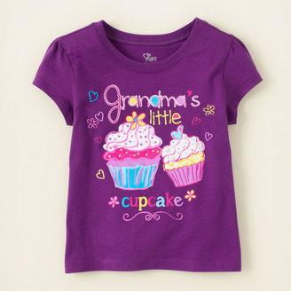 Children's Place Grandma's cupcake graphic tee