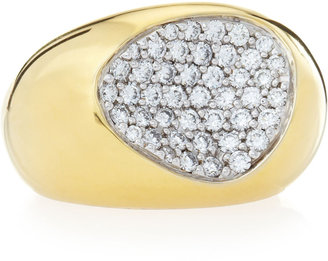 Roberto Coin Capri Plus Diamond Pave Ring, Size 6.5
