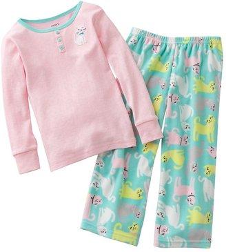 Carter's cat pointelle pajama set - baby