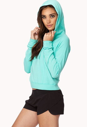 Forever 21 Cropped Yoga Hoodie