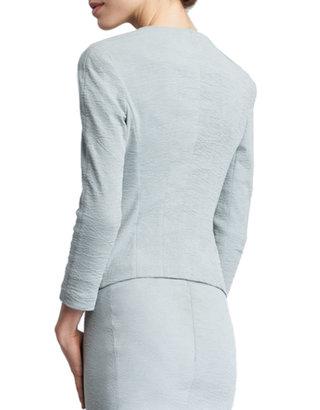 Donna Karan Trompe L'Oeil-Collar Jacket