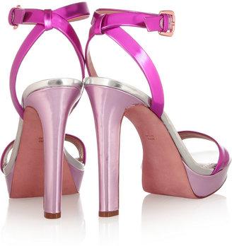 Jean-Michel Cazabat Jean Michel Cazabat Holiday mirrored-leather platform sandals