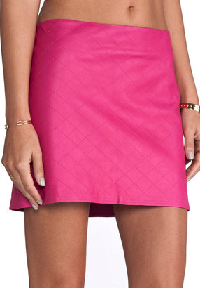 Alice + Olivia Brigitta Leather Mini Skirt
