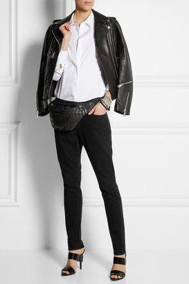 Karl Lagerfeld Printed canvas belt bag