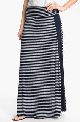 Bobeau Tuxedo Stripe Maxi Skirt