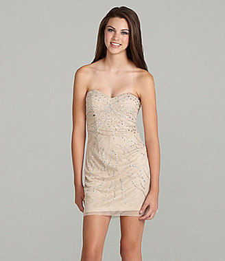 B. Darlin Beaded Sweetheart Neck Dress