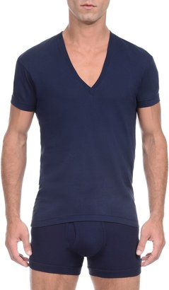 2xist Slim Fit Pima Cotton Deep V-Neck T-Shirt