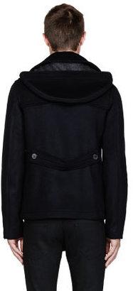 Raf Simons Navy & Grey Duffle jacket