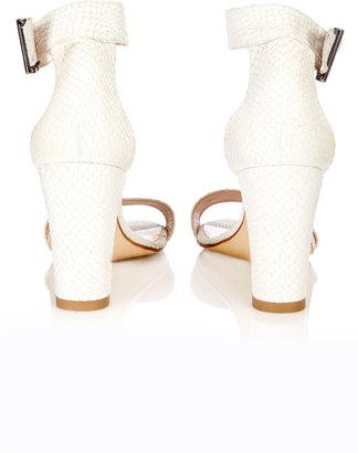 Wallis White Leather Sandal