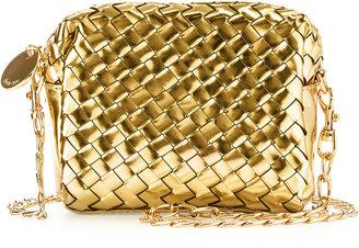 Deux Lux Sunset Mini Woven Crossbody Bag, Gold