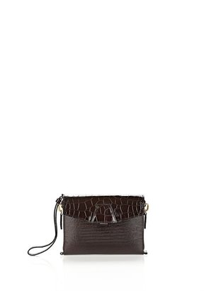 Alexander Wang Lydia In Embossed Mahogony With Yellow Gold