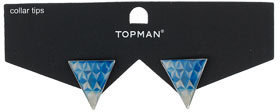 Topman Triangle Print Collar Tips
