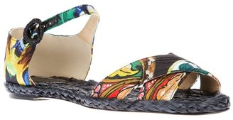 Dolce & Gabbana floral print sandal