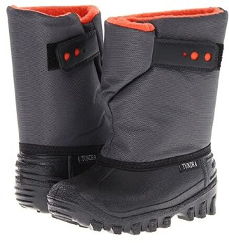 Tundra Boots Kids Teddy 4 (Toddler/Little Kid) (Black/Charcoal/Orange) Boys Shoes