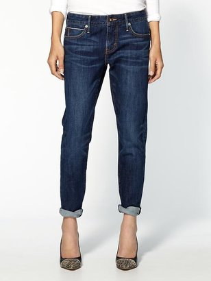 Levi's Cropped Selvedge Boyfriend Skinny Jeans