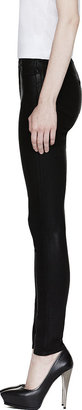 J Brand Black Coated High-Rise Skinny Jeans