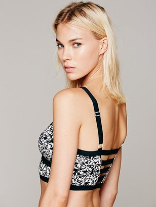 Free People Printed Braces Crop Bra